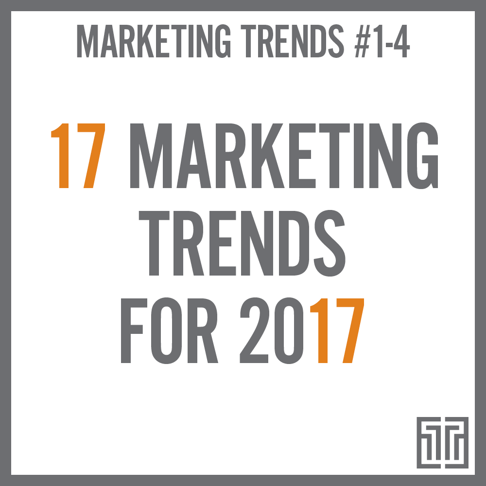 The Top 17 Marketing Trends for 2017: Trends 1-4